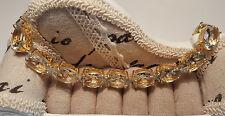 Stunning 70ct Genuine Green Amethyst Bracelet in14k Gold over Sterling silver