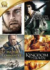 Cast Away/Last of the Mohicans/Master Commander/Kingdom Heaven DVD 4-Disc NEW