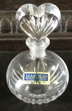 Waterford Crystal Marquis Glass Perfume Bottle ~ Heart Shaped Stopper NEVER USED