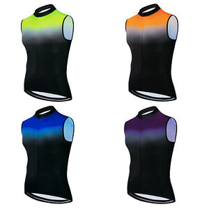 2021 Reflective Cycling Vest Men's Women's Bike Cycle Sleeveless Top Shirt S-5XL