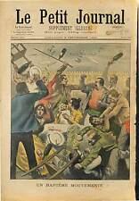 BAGARRE ASNIERES ROMANICHEL FORAIN CIRQUE DOMPTEUR MARIUS LUTTEUR AJAX 1901