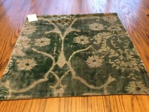 "New Pottery Barn Amelia Printed Velvet 22"" Pillow Cover Antique Decor Vintage"