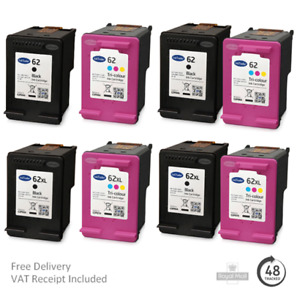Remanufactured HP 62 & 62XL Ink Cartridges For HP OfficeJet 5742 Printers