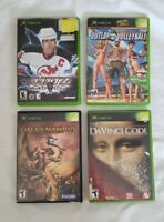 ORIGINAL XBOX 4 GAME BUNDLE LOT - All Tested & Working - Action Adventure Sports