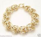 Bold Love Knot Rosetta Chain Bracelet Real 14K Yellow Gold 14.50gr QVC
