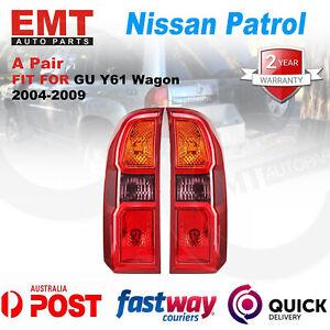 Pair Rear Tail Lights Lamp For Nissan Patrol GU Y61 2004-2015 Wagon LH+RH