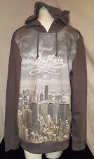Buffalo David Bitton Men's NWT Graphic Hoodie Sweater Color Gray Medium