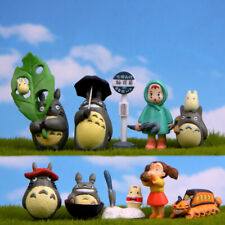 10Pcs Totoro Figure Toys Kids Cake Toppers Miyazaki Hayao PVC Home Decoration