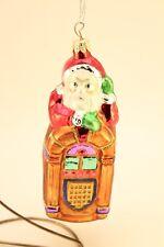 Dept 56 Glass Juke-Box Santa Claus Christmas Tree Holiday Decorative Ornament
