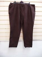 LADIES TROUSERS BROWN SIZE 30 PULL ON CASUAL BNWOT
