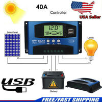 100A MPPT Solar Panel Battery Regulator Charge Controller 12/24V Auto Dual USB