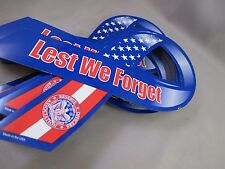 WHOLESALE LOT 50 LEST WE never FORGET CAR AUTO RIBBON MAGNETS support our troops