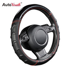 """AUTOYOUTH Car Steering Wheel Cover 15"""" / 38cm For Most Car Non-Slip Leather"""