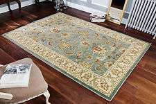 Teal Beige Quality Traditional Persian Oriental Design EASY CARE Runner 30%OFF
