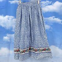 Vintage 90s Vera Bradley Skirt Floral Romantic Boho Gypsy Hipster Pockets Modest