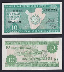 Burundi - 10 francs 2005 SPL+/XF+  C-08