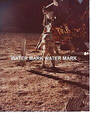 NASA Apollo 11 Moon Walk 8 X 10 Photo Buzz Aldrin LEM Flag From Original Film B