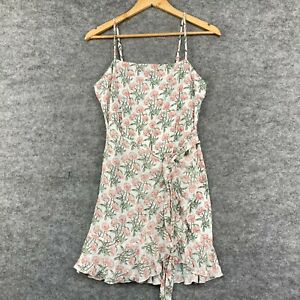Princess Polly Womens Dress Size 12 Petite White Floral Sleeveless A-Line 241.26