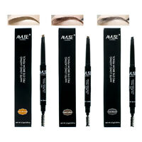 Eyebrow Pencil With Brush Eye Brow Matte long lasting Waterproof Auto Rotation