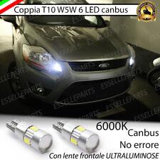 COPPIA LUCI DI POSIZIONE 6 LED CANBUS 6000K FORD KUGA I NO ERROR
