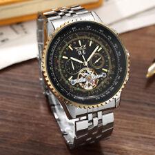 Jaragar Luxury Stainless Steel Self-winding Auto Date Mechanical Mens Wristwatch
