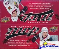 2016/17 Upper Deck MVP Hockey MASSIVE Factory Sealed 36 Pack Retail Box !!