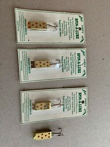 Lot of 4 Jake's Spin-A-Lure fishing lures, trout, crappie, bass, steelhead