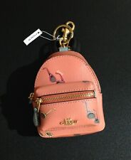 COACH BACKPACK KEYCHAIN BAG CHARM COIN PURSE -'100% AUTHENTIC -- NEW WITH TAGS !