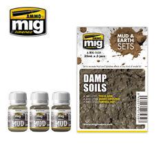 AMMO MIG 7439 ZESTAW FARB DAMP SOILS MUD & EARTH