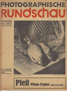 Photographische Rundschau und Mitteilungen, 4 Ausgaben