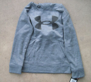 Under Armour Youth Boys Pullover Hoodie - Pitch Gray & Black  - NWT