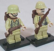 LEGO WW2 GERMAN INFANTRY SOLDIER Military Figure AFRIKA KORPS Rommel DAK WWII