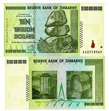 Zimbabwe 10 Trillion Dollars Uncirculated 2008  AA