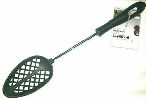 1 x Probus Litchfield Nylon Slotted Cooking Spoon Non-Stick Dining Kitchen Black