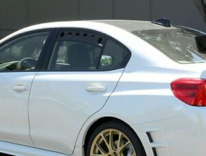 PERRIN Rear Window Vents (Wrinkle Black) for 2015-2019 Subaru WRX / STi