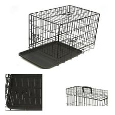 "Heavy duty 36"" Folding Pet Dog Puppy Cat Training Cage Crate Carrier DCUK"