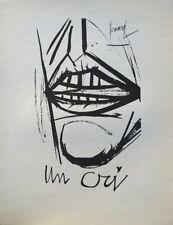 Bernard BUFFET : Un cri - GRAVURE signée  #1961 #197ex
