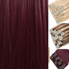 Ginger Brown Red Chestnut Blonde Hair Extensions Clip-in Hair  real Human Feel