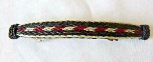 Artisan Woven Horsehair Barrette Clip RARE