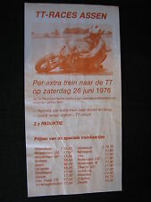 Flyer TT Assen, zaterdag 26 juni 1976 Circuit van Drenthe (TTC) NS