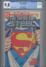 Man of Steel #1 CGC 9.8 1986 DC Superman: John Byrne, Silver Logo: New Frame