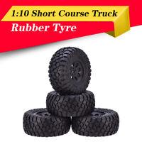AUSTARHOBBY AX-4005 4x RC Rubber Wheel Tires  For 1:10 Traxxas Slash HPI Car
