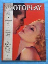 PHOTOPLAY MAGAZINE. SEPTEMBER, 1932 - GARY COOPER & TALLULAH BANKHEAD COVER