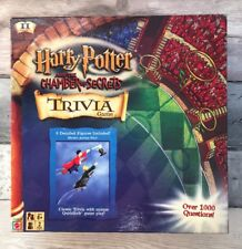 Harry Potter Trivia Board Game Quidditch Chamber Of Secrets Figures Complete