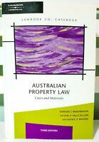 Australian Property Law: Cases and Materials: Third Edition! Adrian J Bradbrook!