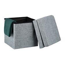 Bauli e casse grigi Relaxdays per la casa