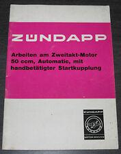 Werkstatthandbuch Zündapp Zweitakt  Motor 50 ccm Automatic Startkupplung 1971!