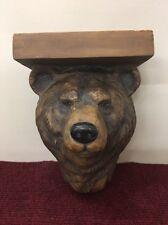 Bear Wall Hanging Shelf Resin Grizzly Bear 1996 Tenem Stein