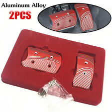 Replacement Parking Brake & Clutch Pedal Aluminium Pedal Pads Cover Set Nonslip