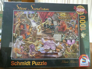 SCHMIDT PUZZLE. MUSIC MANIA BY STEVE  SUNDRAM. 1000 PIECES - BRAND NEW & SEALED